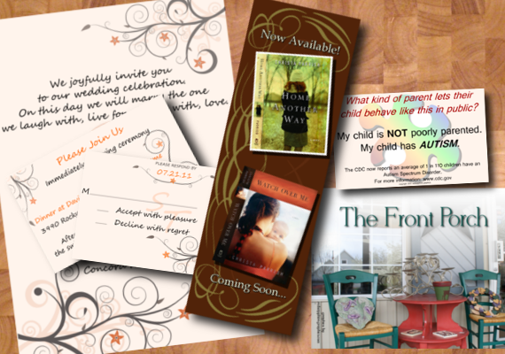 From bookmarks to stationery we've got your print needs covered!