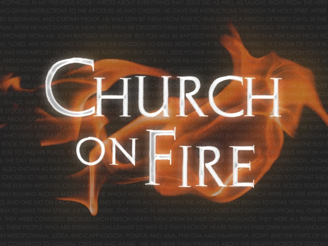 Church on Fire Title Screen